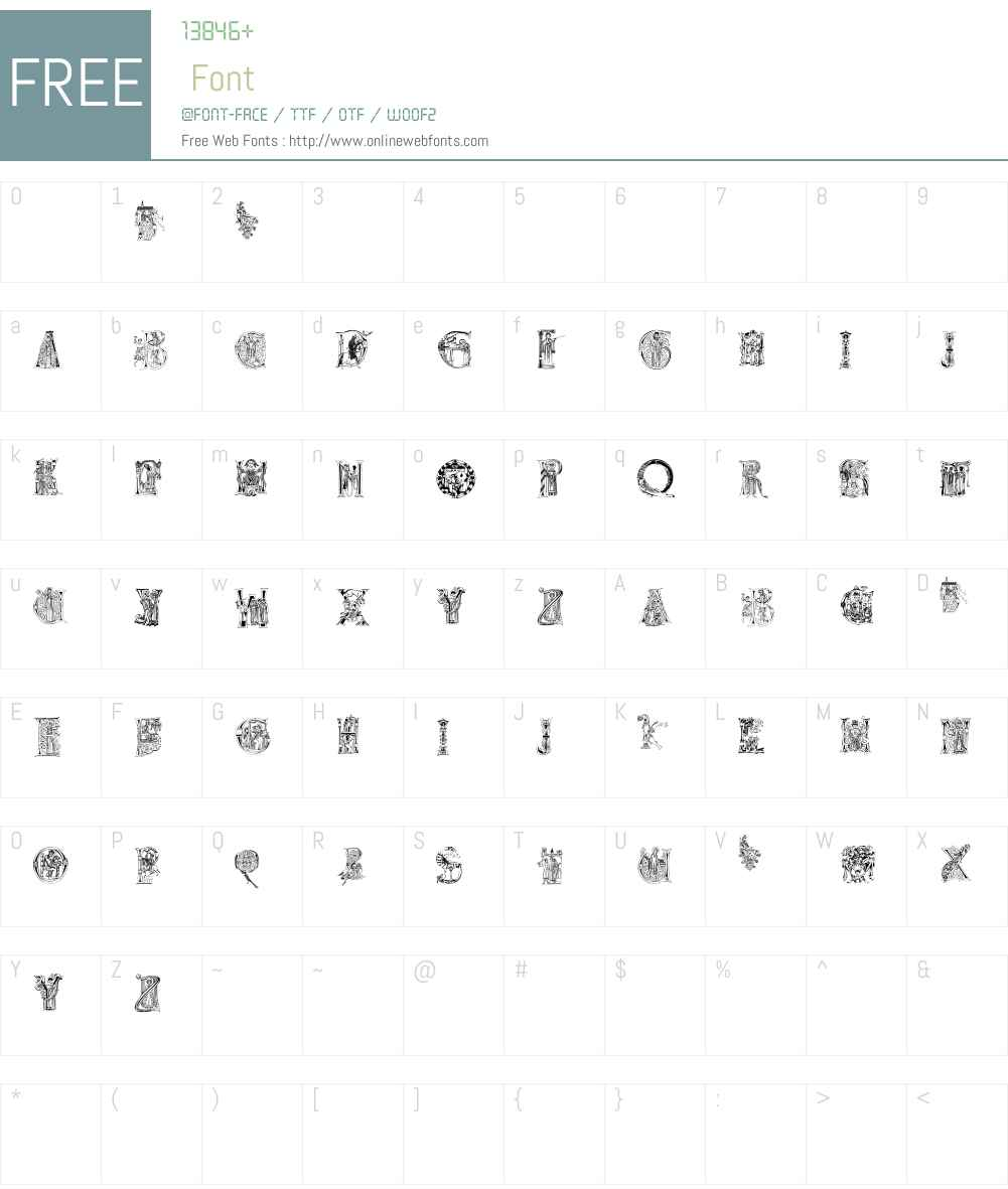 ChristianInitials Font Screenshots
