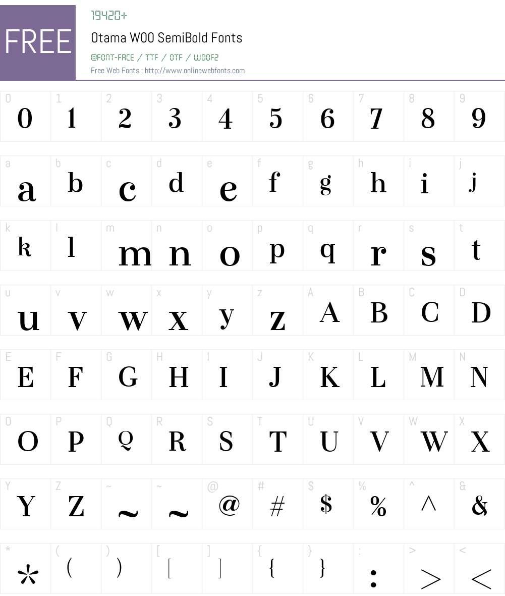 OtamaW00-SemiBold Font Screenshots