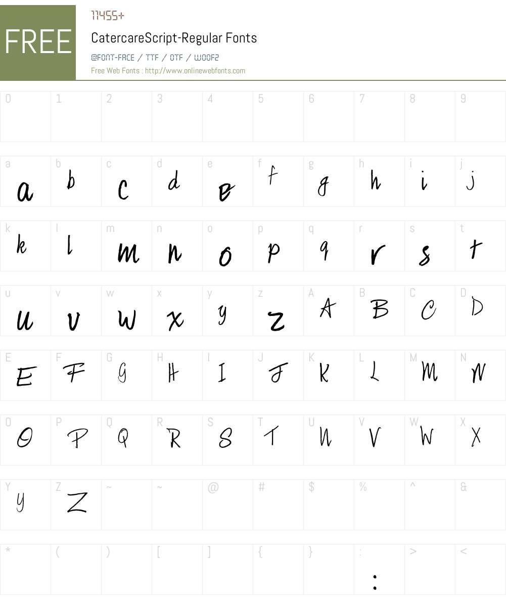 CatercareScript Font Screenshots