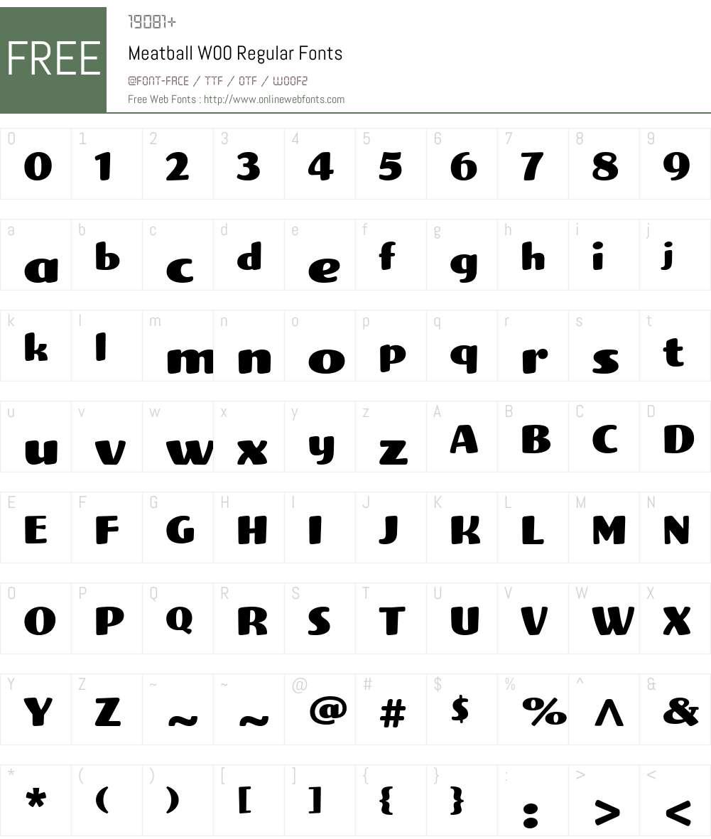 Meatball Font Screenshots