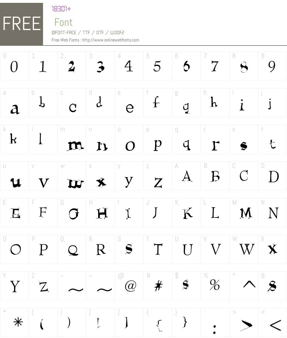 Heimlich Font Screenshots
