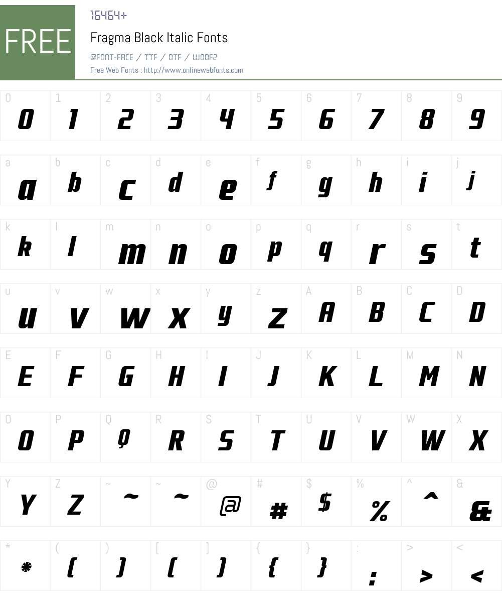 Fragma Font Screenshots