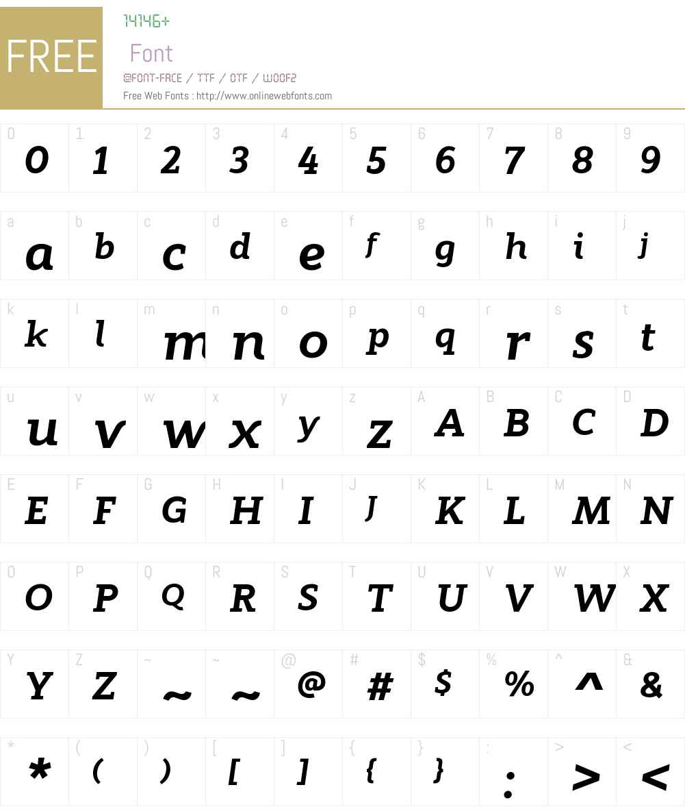 ModumW00-ExtraBoldItalic Font Screenshots