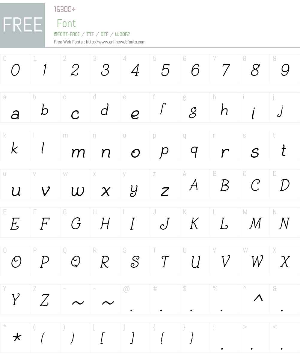 BiracDT Font Screenshots