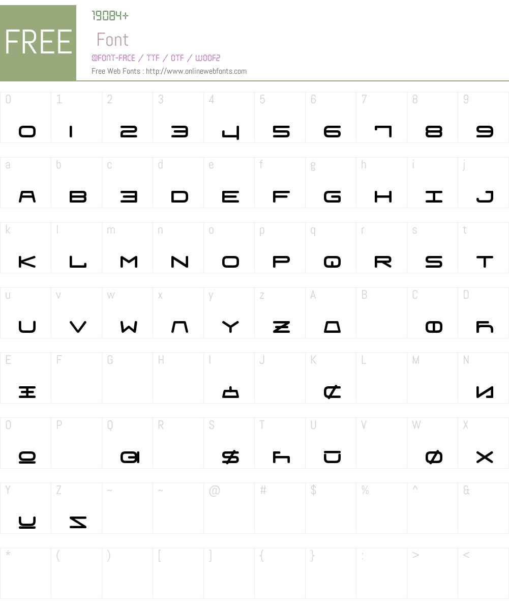 Fraulein Unifon Font Screenshots