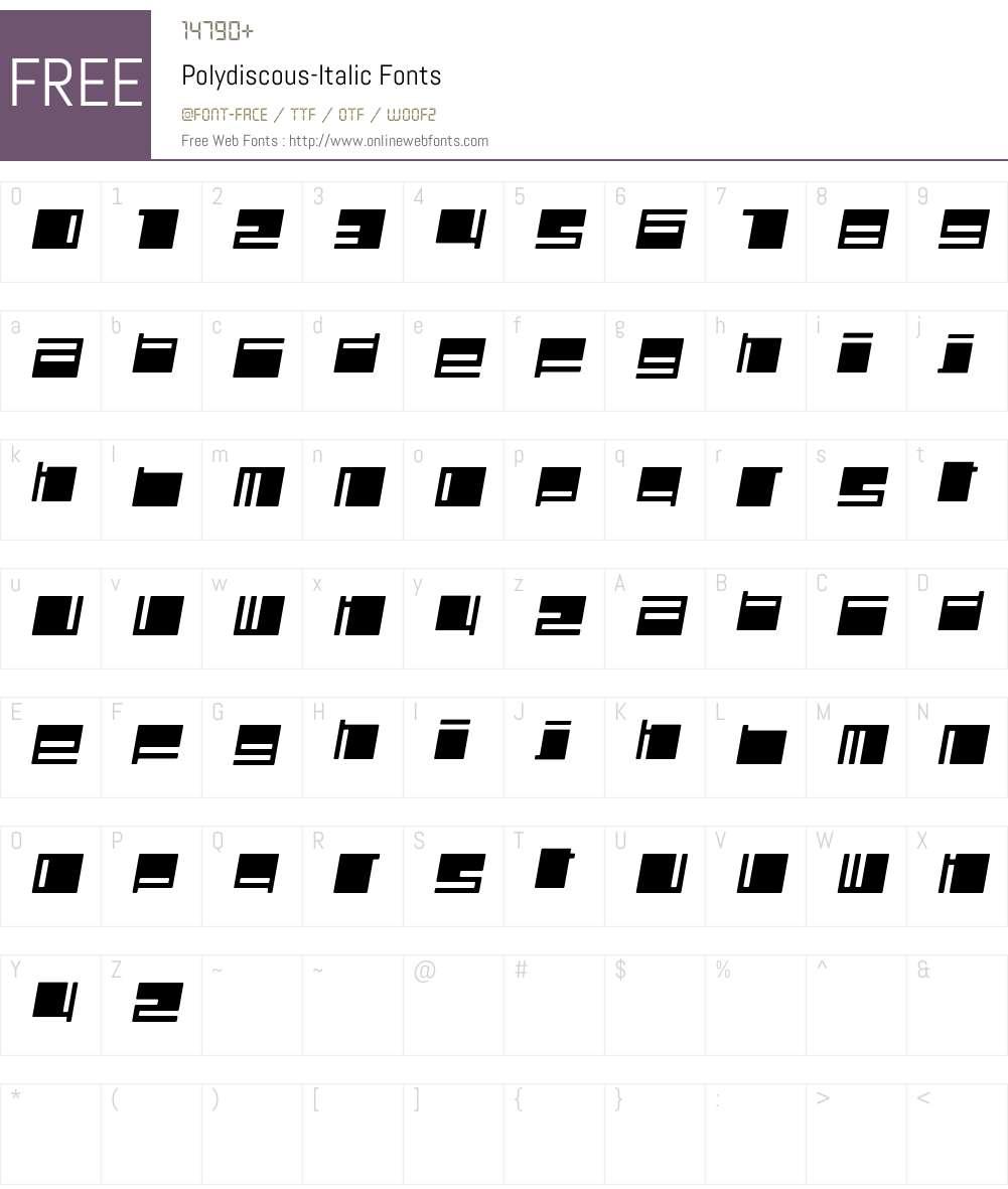 Polydiscous Font Screenshots