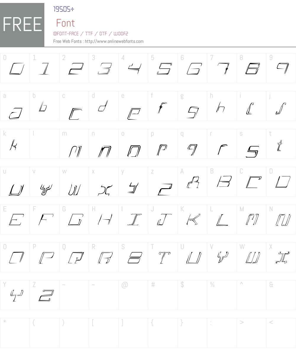 AScratch Font Screenshots