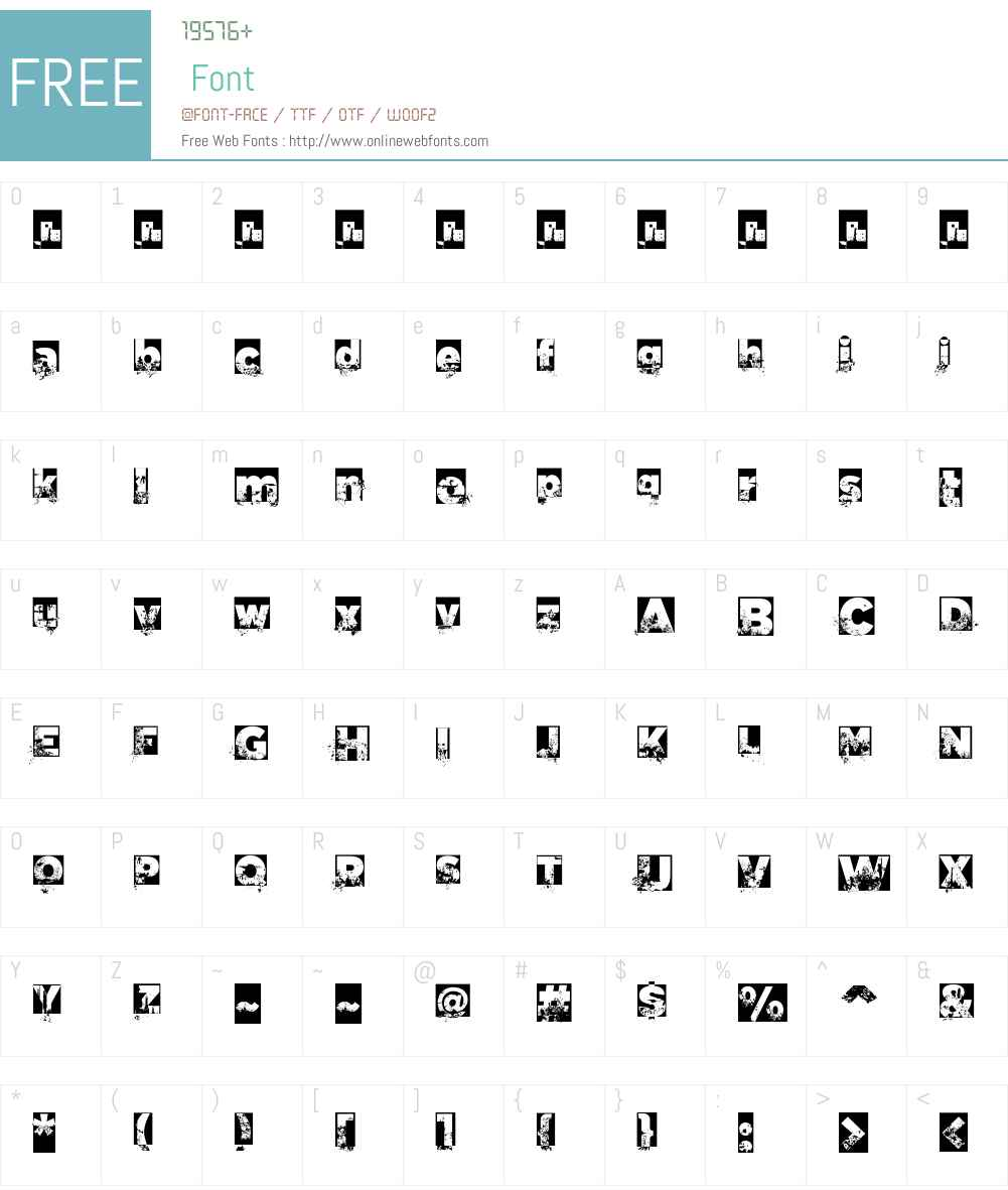 C.A. Garrutas Font Screenshots