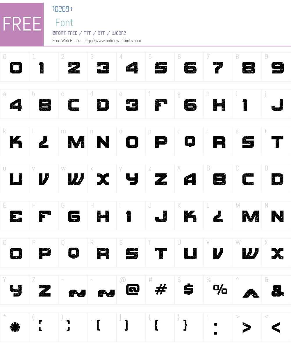 KonoW00-Regular Font Screenshots