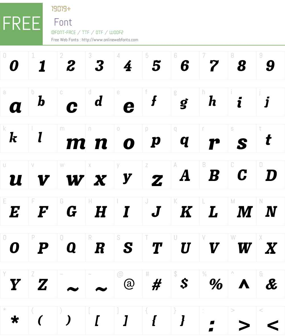 MinernilW00-BlackItalic Font Screenshots