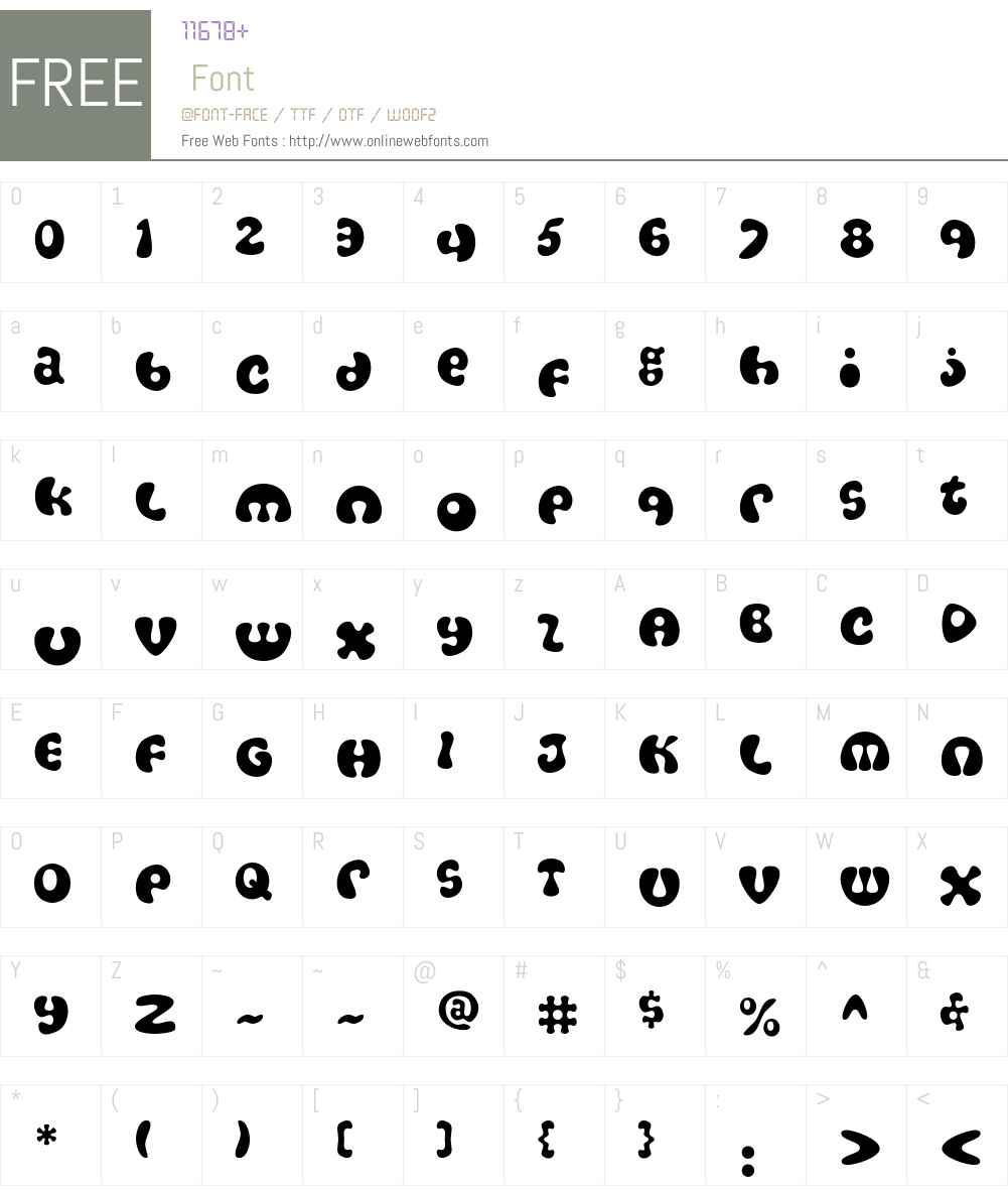 Amoeba Font Screenshots