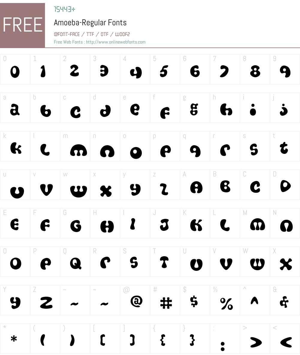 Amoeba Font Screenshots