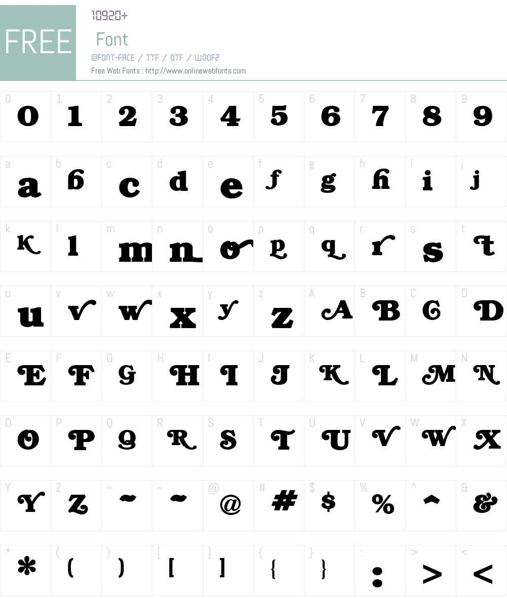 BRYANT Font Screenshots