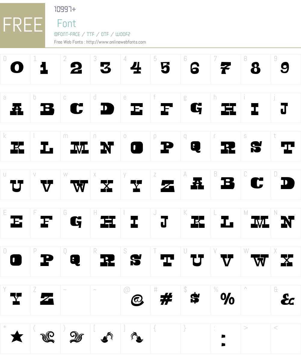 Toeris Font Screenshots