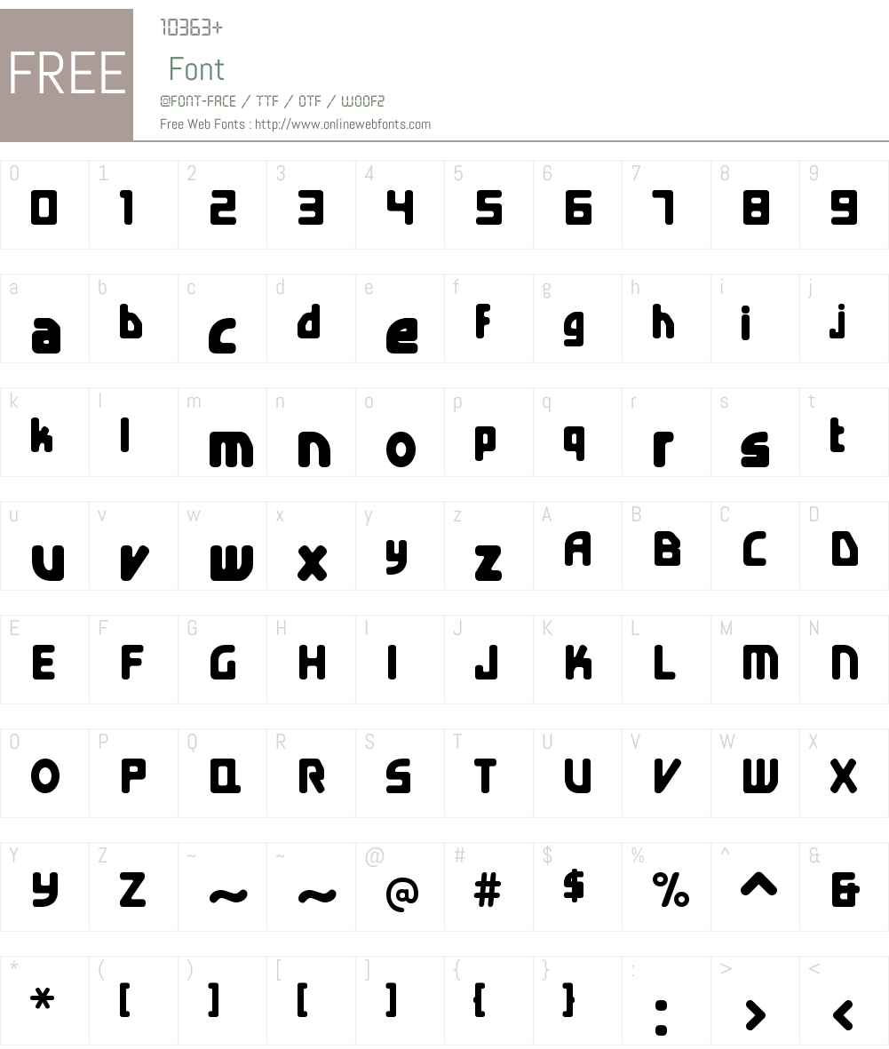 E4 Digital Condensed Font Screenshots