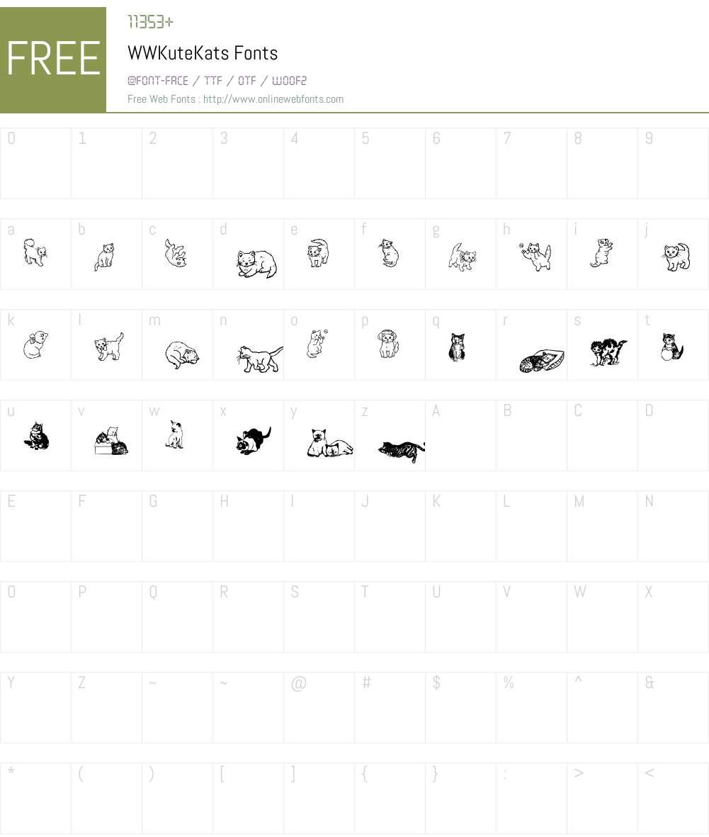WWKuteKats Font Screenshots