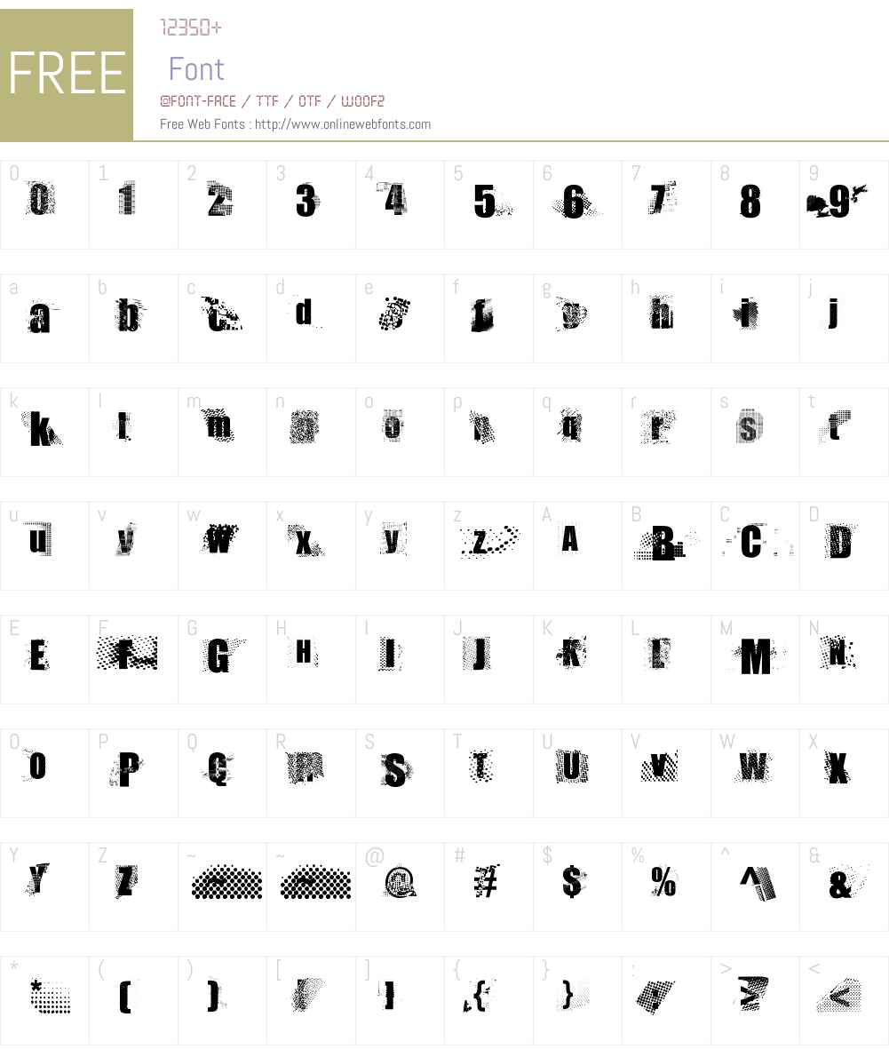 This is sparta! Font Screenshots