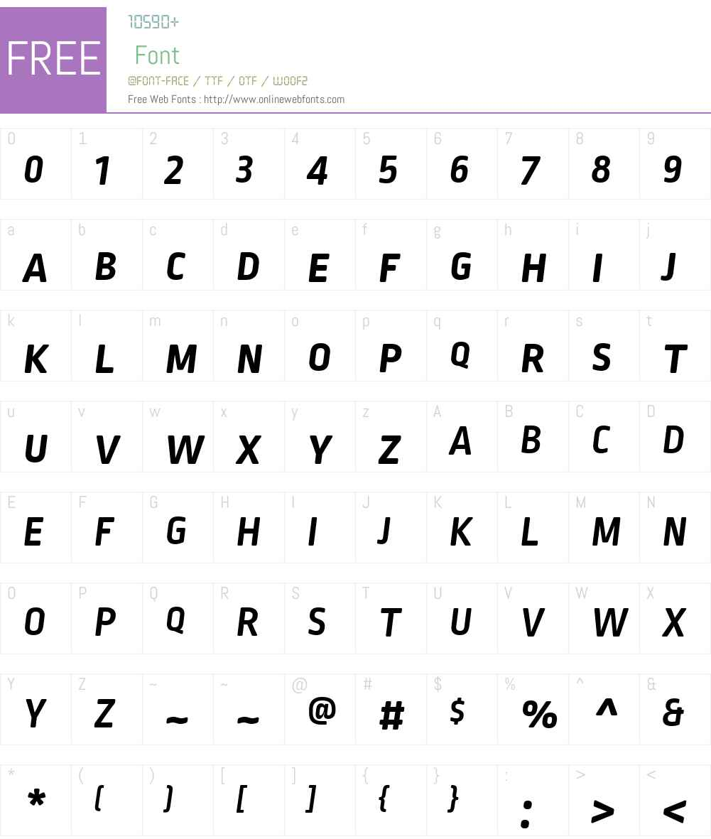 RopaSoftSCPTTW01-BoldItalic Font Screenshots