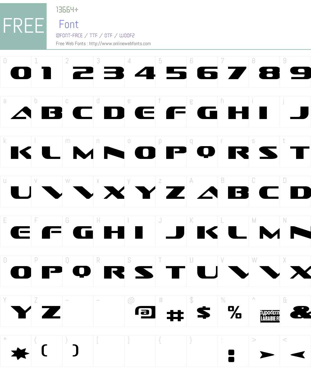 Sofachrome Font Screenshots