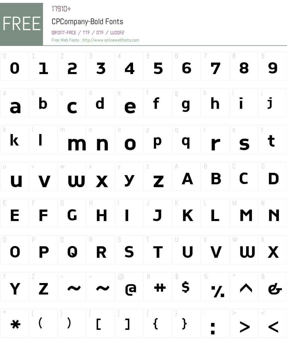 CPCompany-Bold Font Screenshots