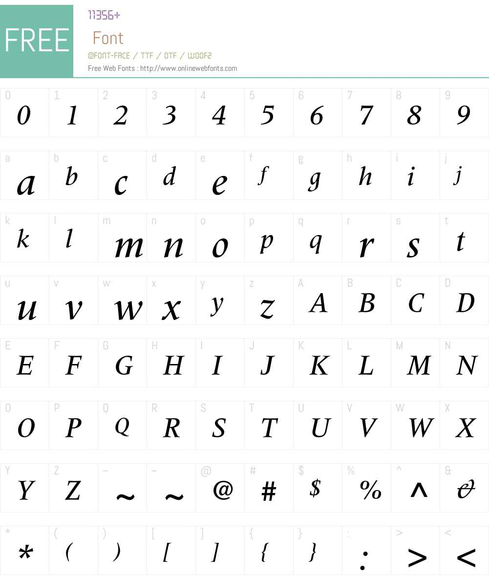 Meridien Font Screenshots