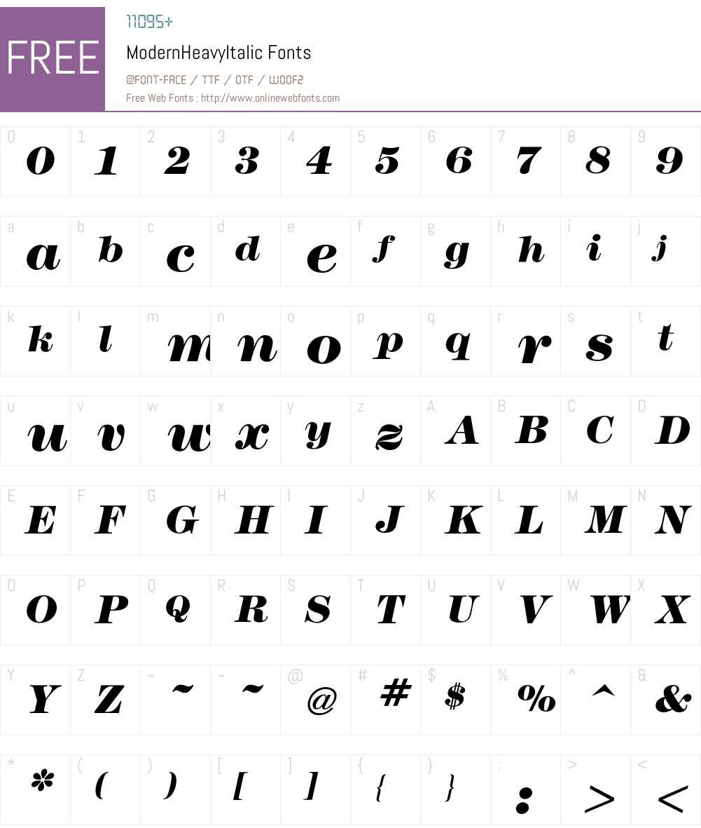 Modern Font Screenshots