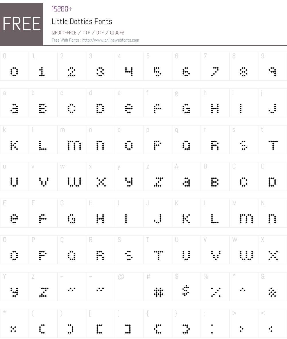 Little Dotties Font Screenshots