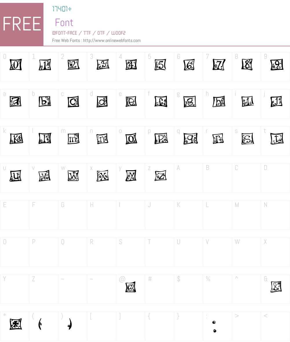 indezonefont - creative Font Screenshots