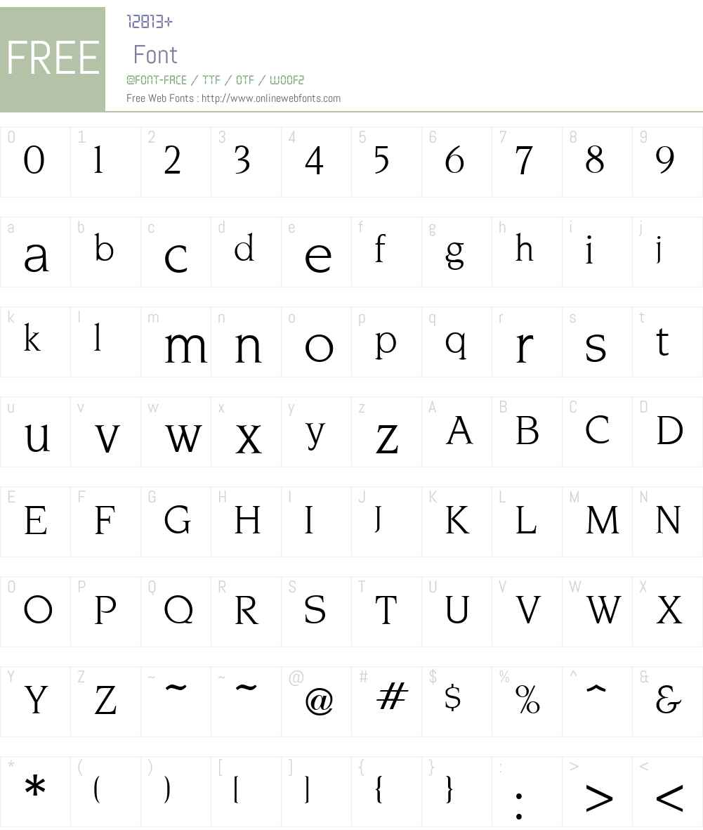 Novarese Font Screenshots