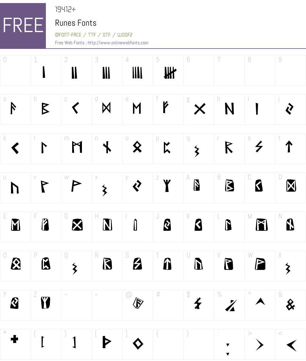 Runes Font Screenshots