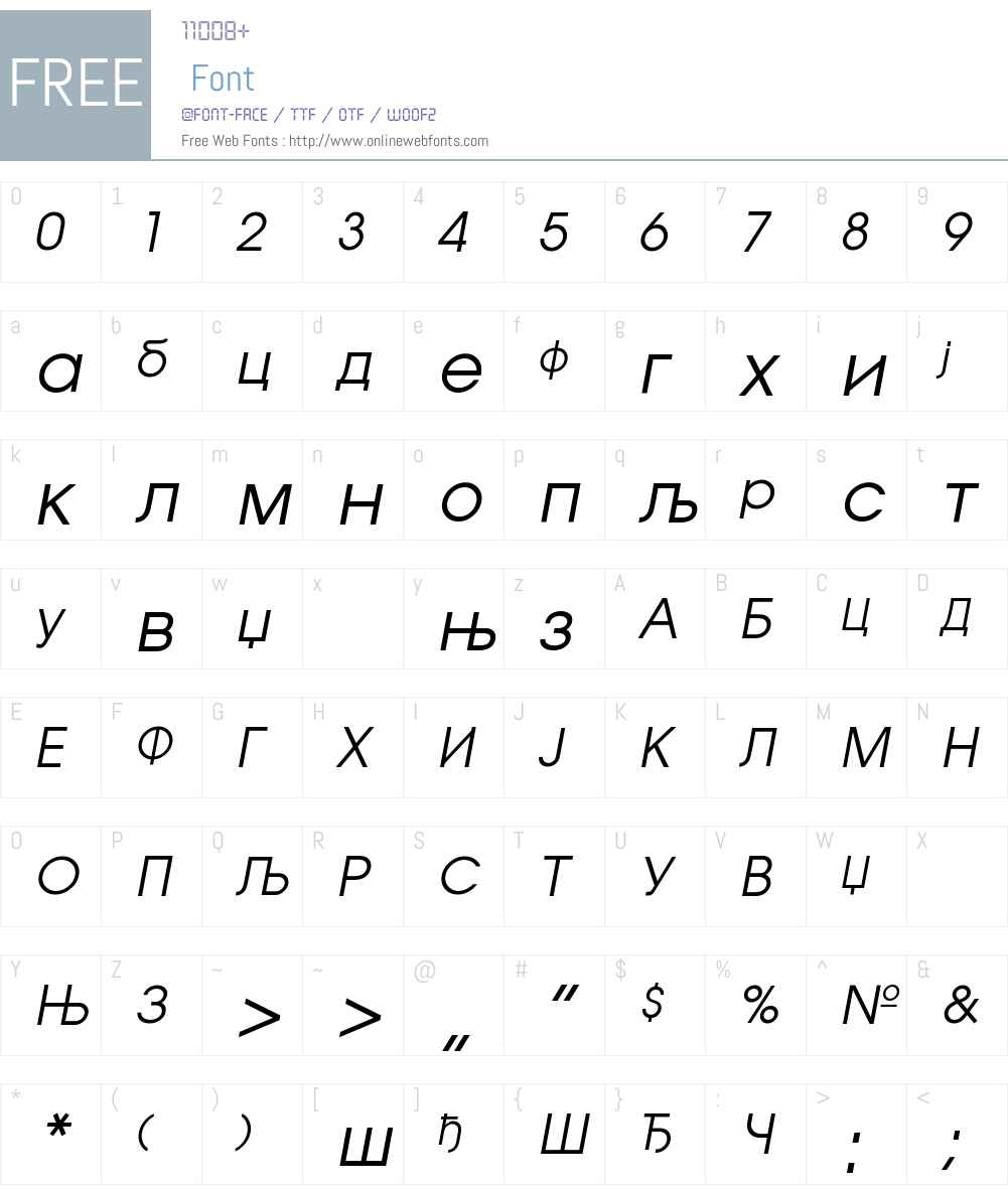 AvantGardeCirZK Font Screenshots