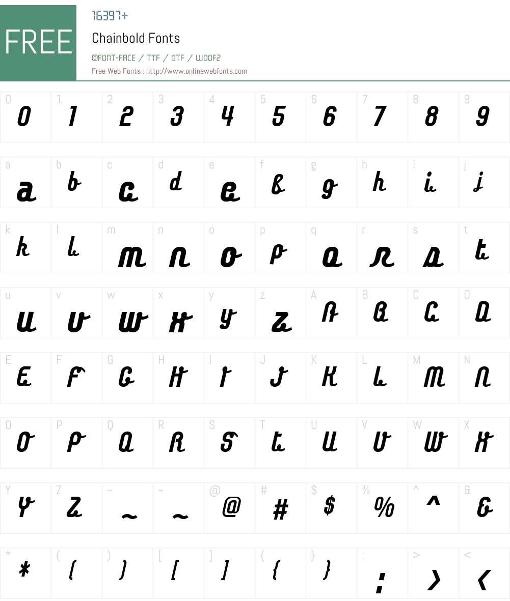 Chainbold Font Screenshots
