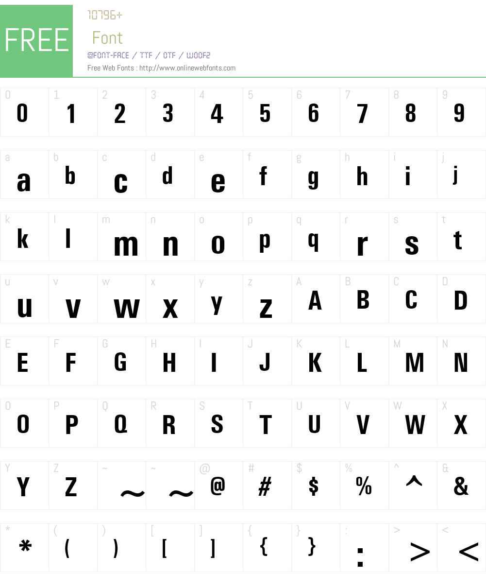 Univers Condensed Font Screenshots