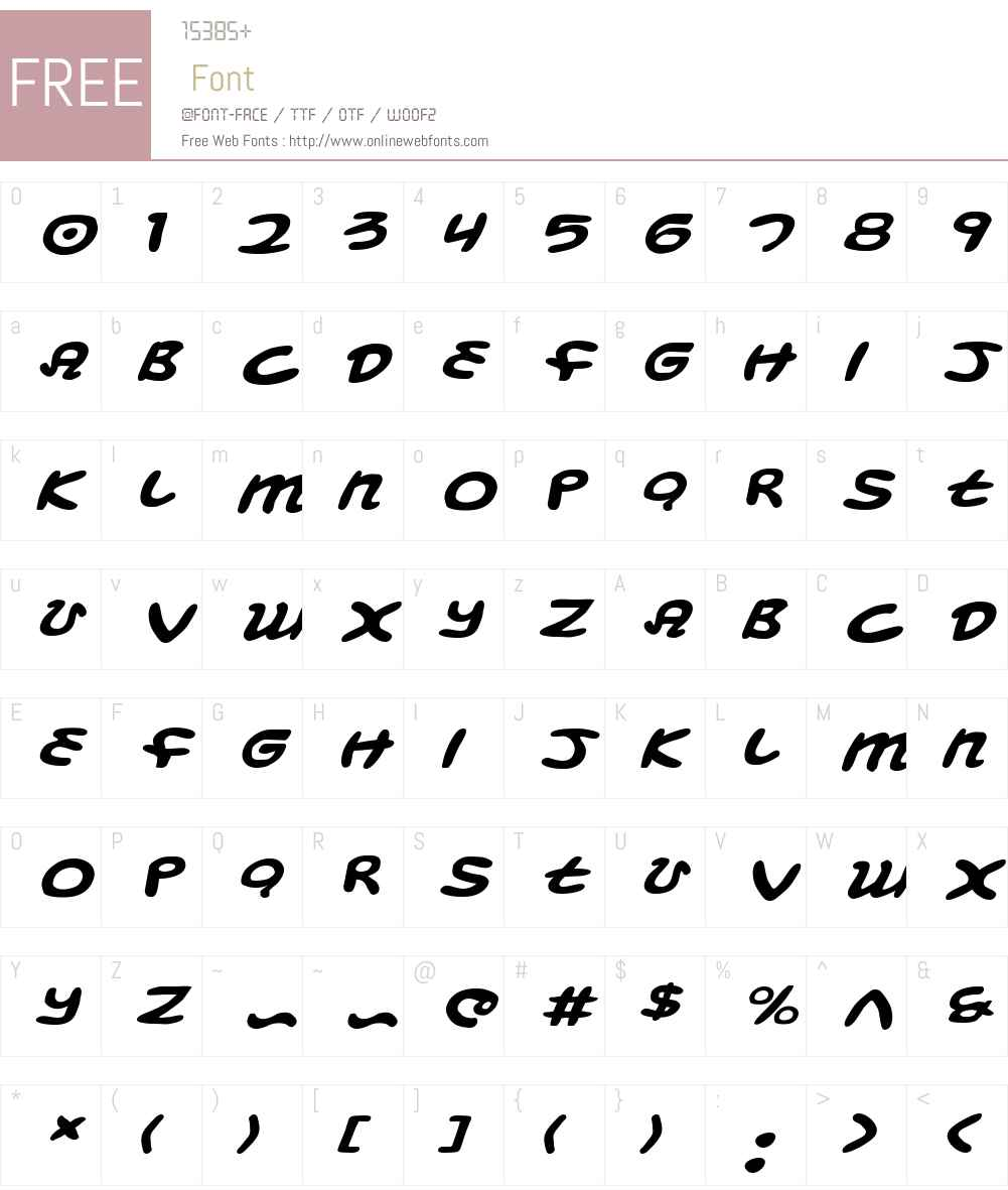 Magic Beans Expanded Italic Font Screenshots