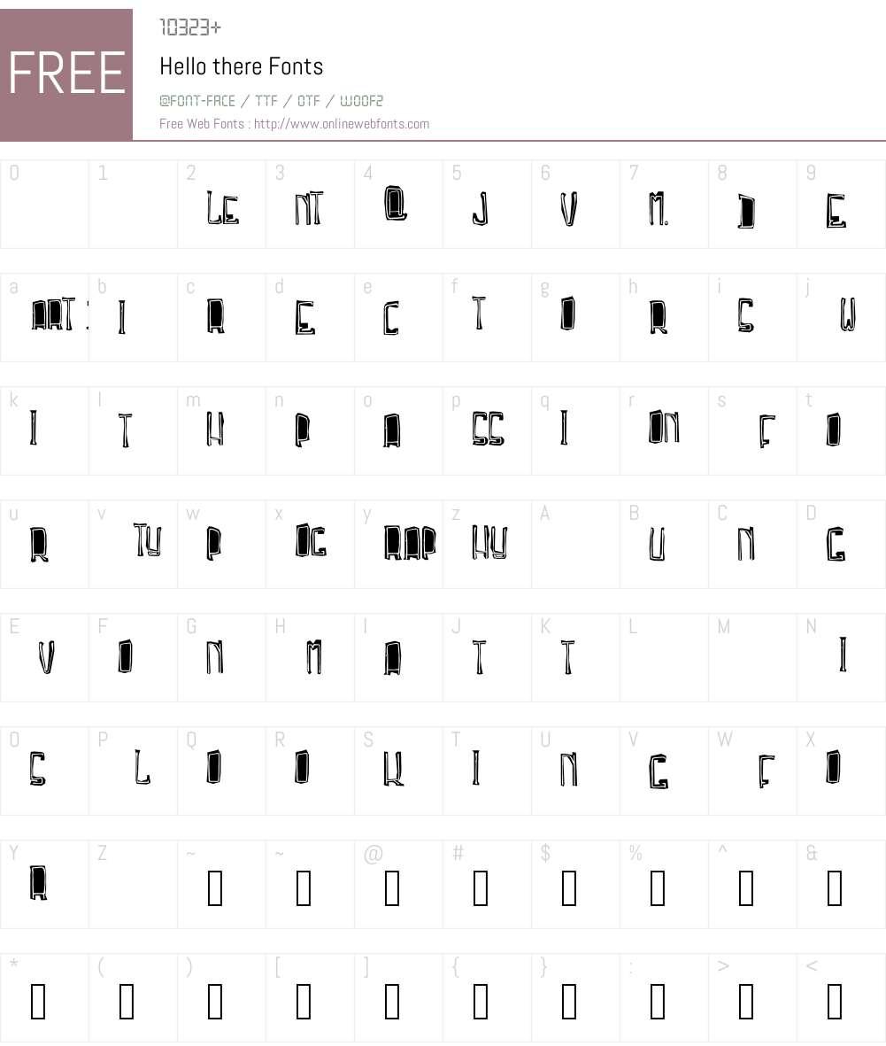 Troja Script Font Screenshots