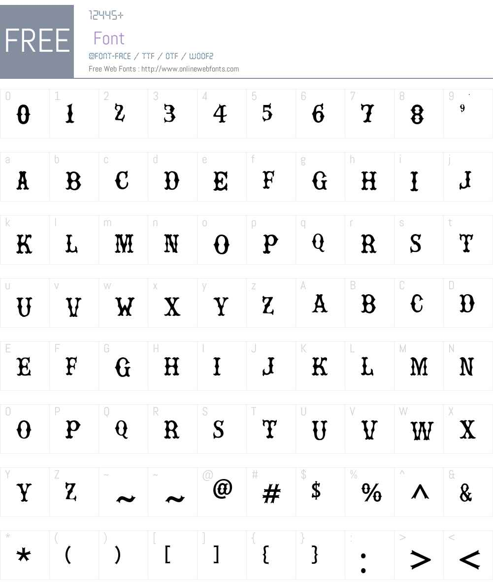 Rebel bones Font Screenshots