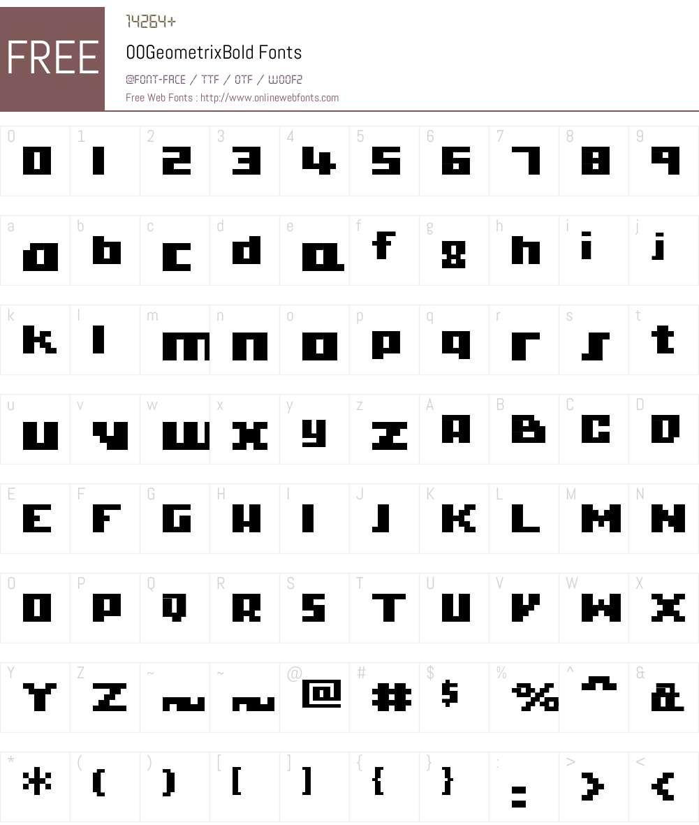 00Geometrix Font Screenshots