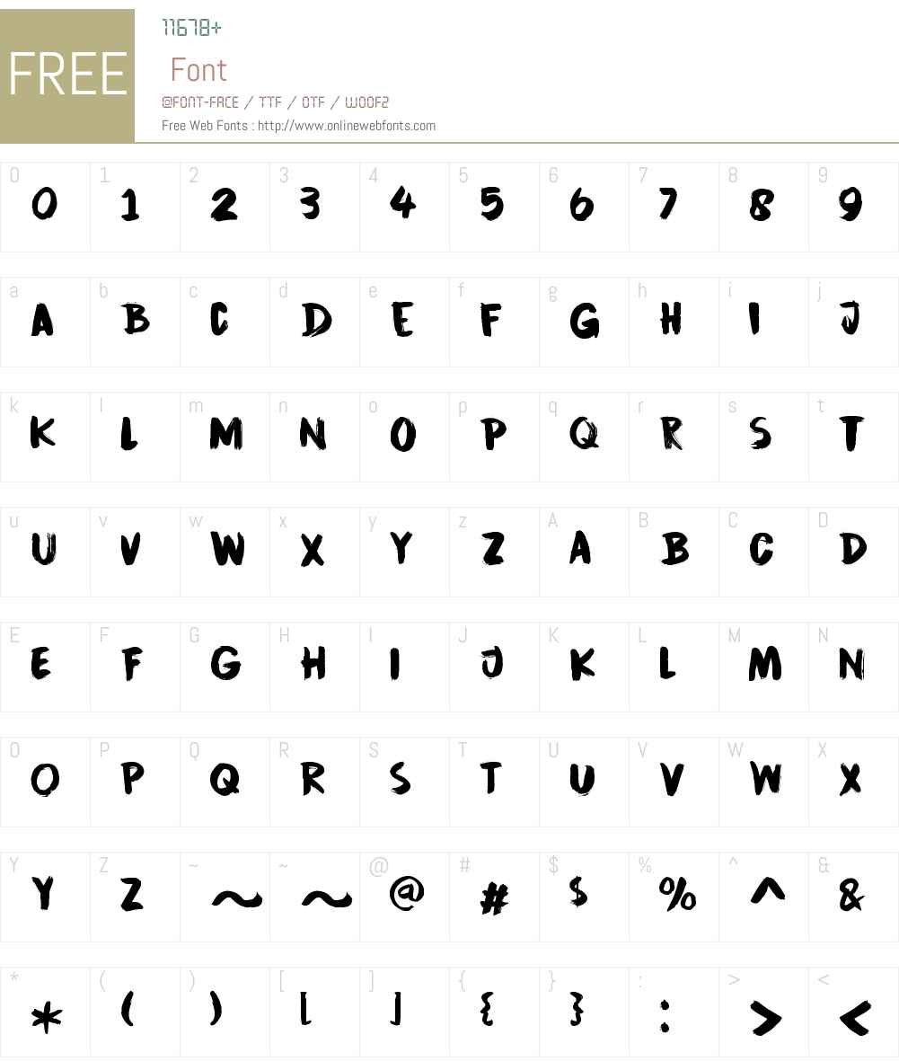 CinnabarBrushW00-Regular Font Screenshots