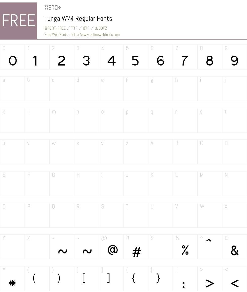TungaW74-Regular Font Screenshots