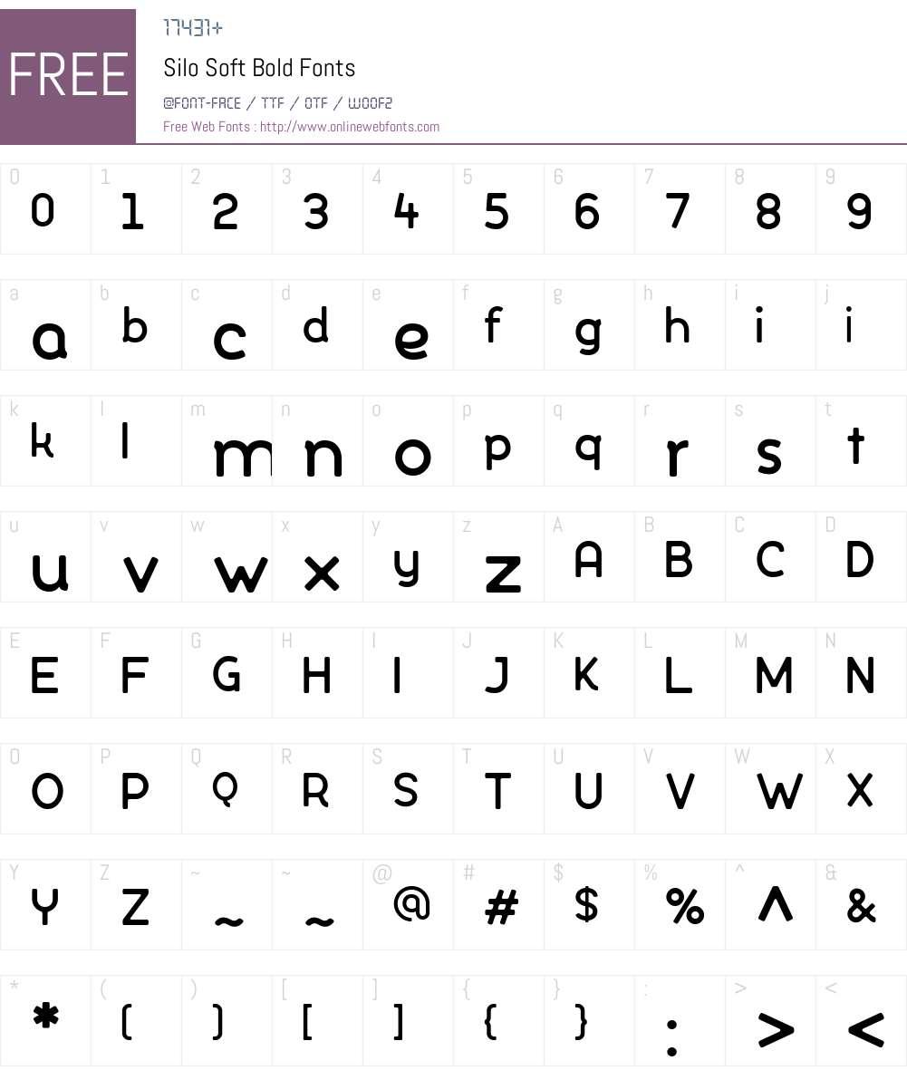 SiloSoft-Bold Font Screenshots