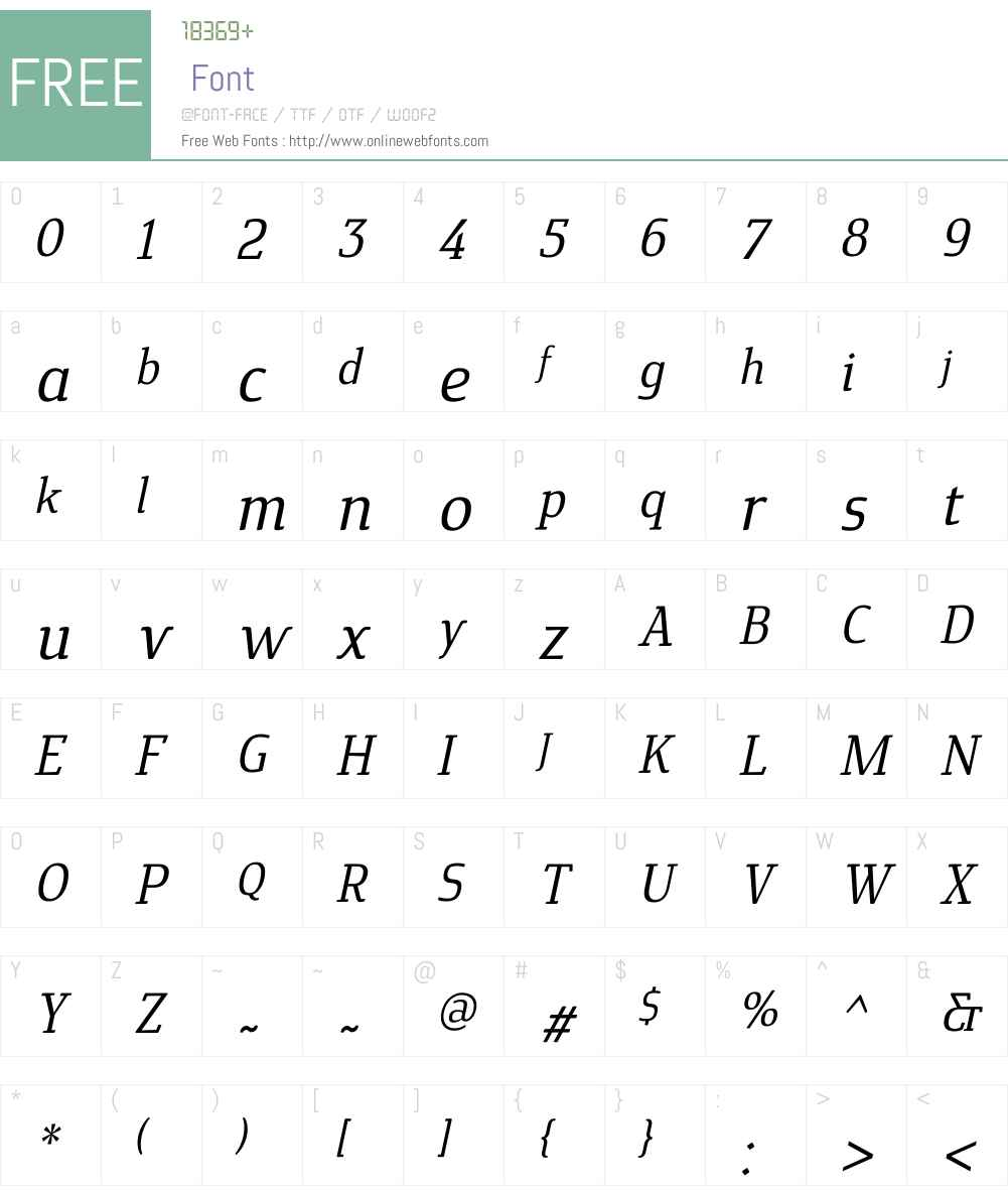 CavoleSlabW01-MediumItalic Font Screenshots