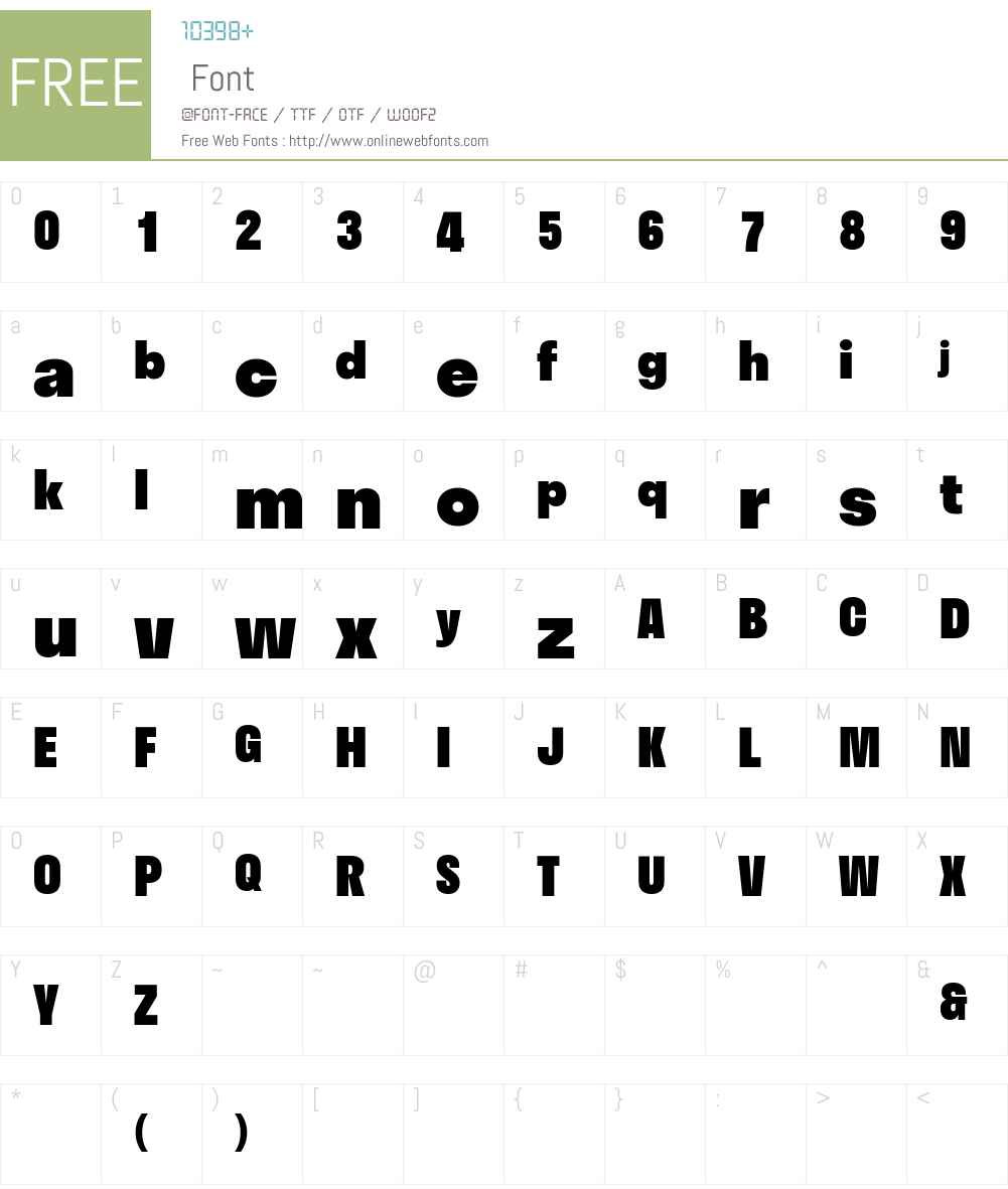 Stratos Web Black Font Screenshots