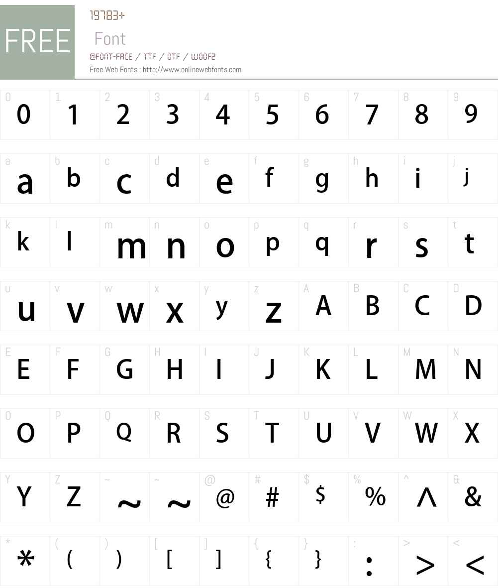 PlusN M Font Screenshots
