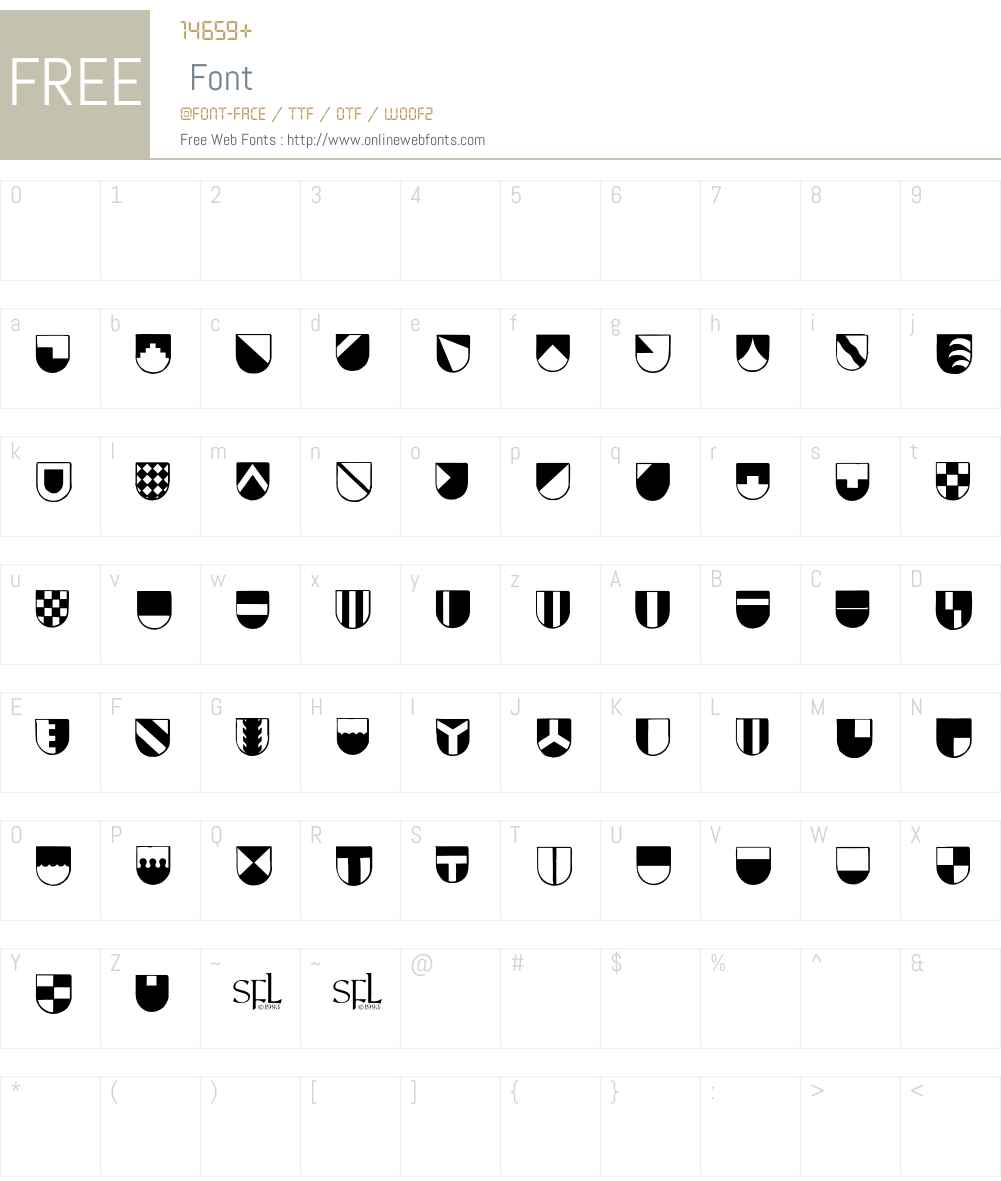 Blazon Font Screenshots