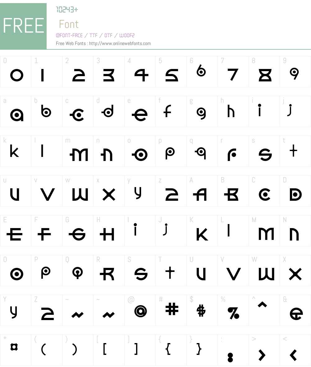 ConectdadotsW00-Phat Font Screenshots