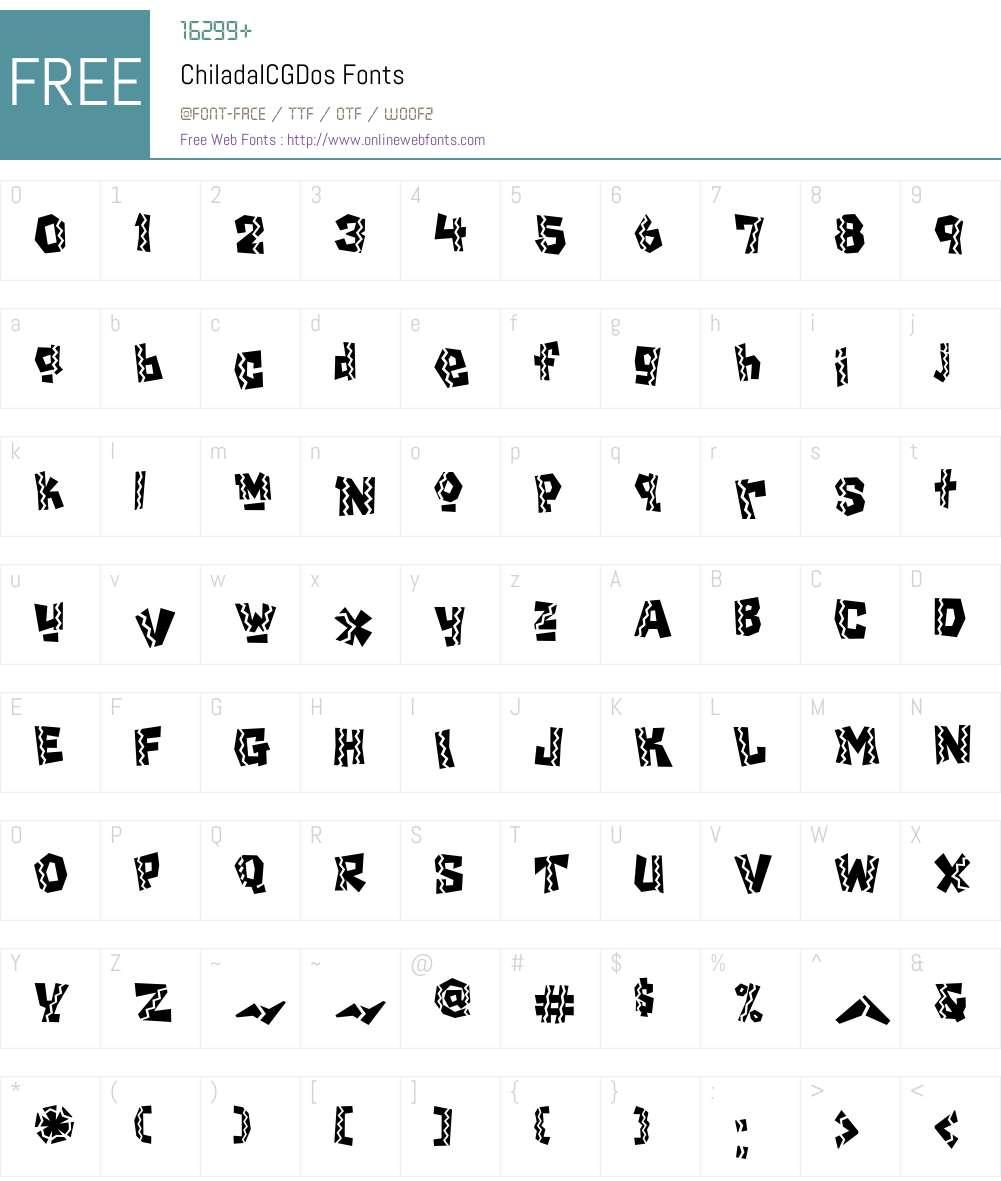 Chilada Font Screenshots