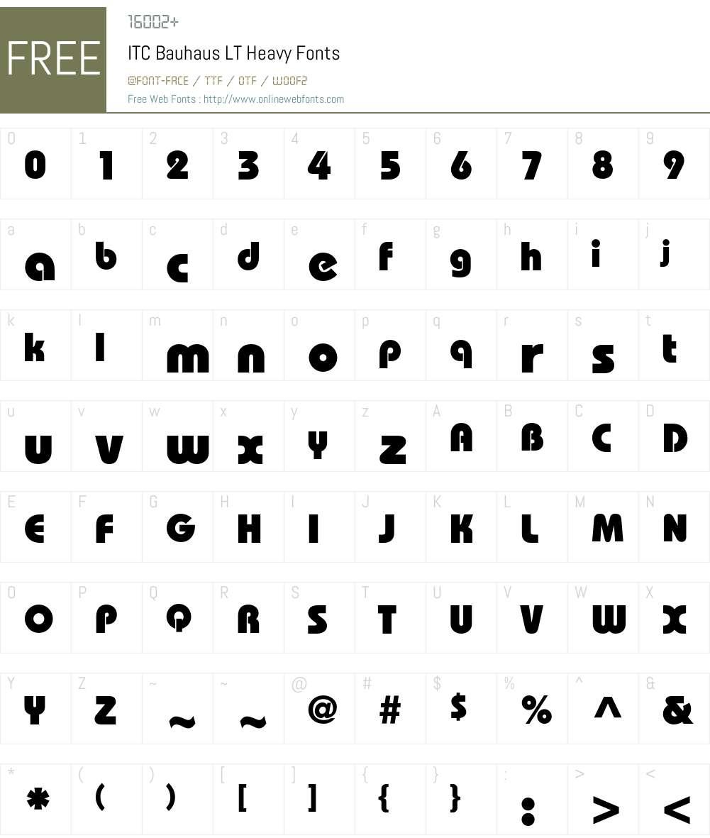 Bauhaus LT Font Screenshots