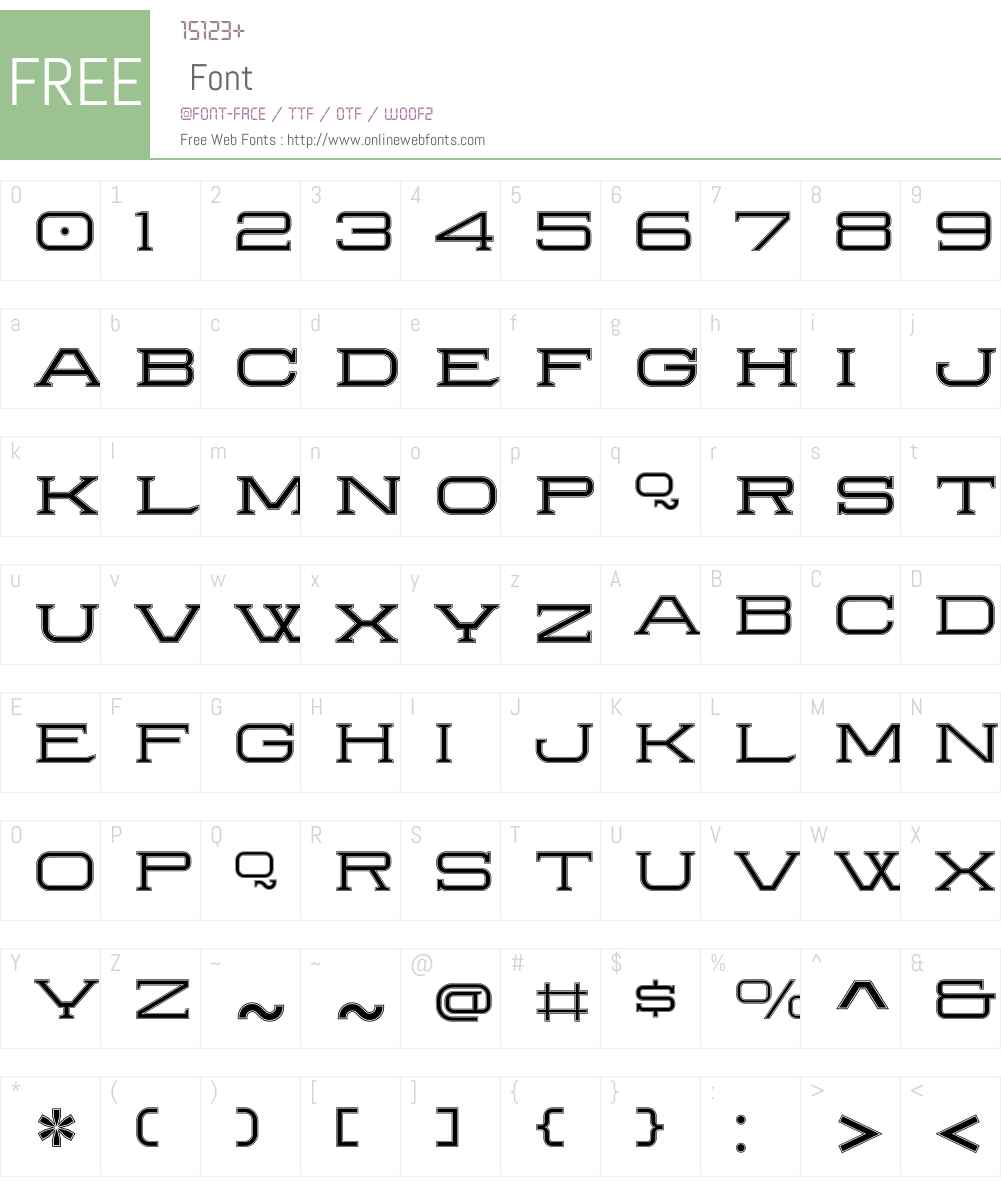 HerraduraInlineW00-Regular Font Screenshots