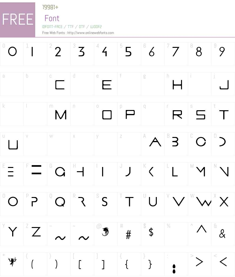 PROMETHEUS Font Screenshots
