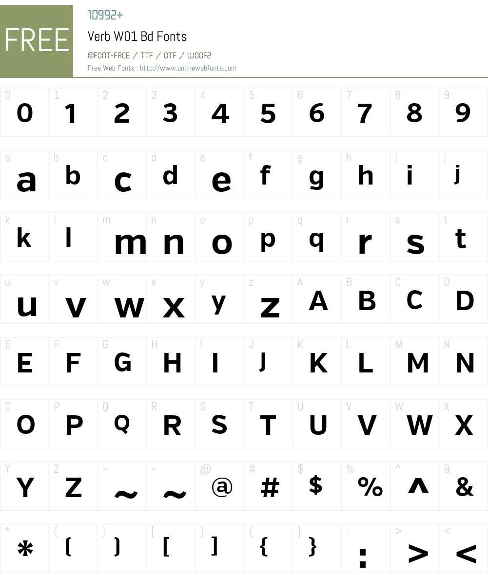 VerbW01-Bd Font Screenshots